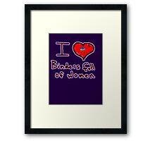 i love binders full of women Mitt Romney Framed Print
