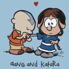 Aang & Katara (Avatar / Calvin & Hobbes) by pootpoot