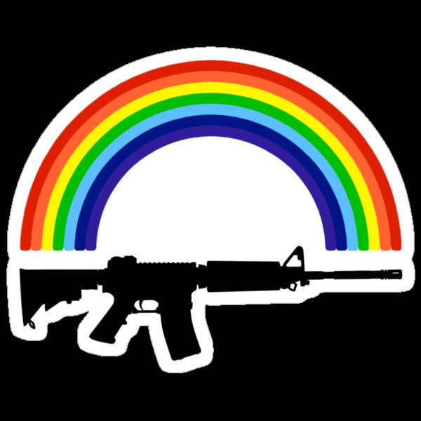 Rainbow Gun T Shirt by Fangpunk