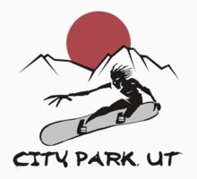 City Park, Utah Snowboarding by SportsT-Shirts