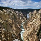Upper Falls of the Yellowstone River by Chaney Swiney