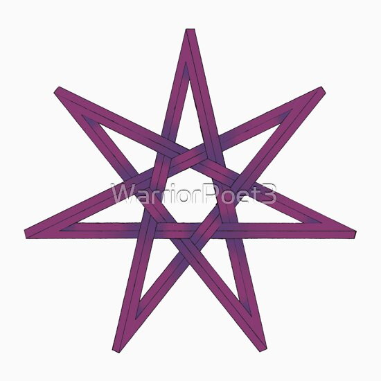 Quot Seven Pointed Star Shaded Pink And Purple Quot Stickers By