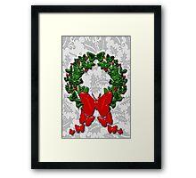 Butterfly wreath Framed Print