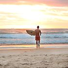 Surfing at Sunrise by PUREPhotoz