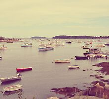 Harbor at Stonington by Lyana Votey