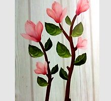 εїз✿♥Magnolia Stems on the Wood Grain Wallpaper iPhone & iPod Cases♥✿εїз by Fantabulous