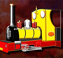 Jack the Hunslet Steam Loco 1898 retro by Dennis Melling