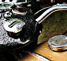Vintage Triumph motorcycle gas tank by htrdesigns
