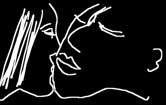 The Kiss/II -(241012)- digital artwork/ms paint by paulramnora
