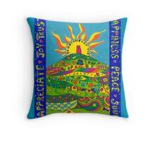 Sunlit Tor Throw Pillow