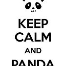 Keep Calm and Panda by Alessandro Ionni