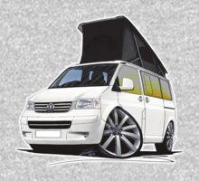 VW T5 California Camper Van White (10-Spoke Wheels) Kids Clothes