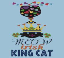 ???Irish Shamrock Crowned King Cat Fantabulous Clothing & Stickers??? by Fantabulous