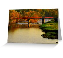 Autumn Day along the River Tees: Barforth Bridge, Gainford Greeting Card