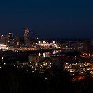 Cincinnati at Night by Jeanne Sheridan