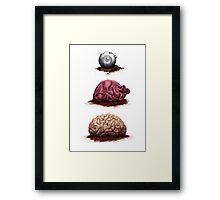 Eye Heart Brains Framed Print