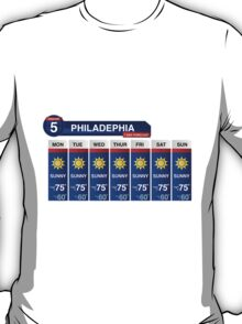 Philadelphia Weather Report T-Shirt