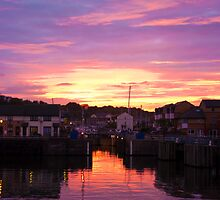 Penarth Marina at dusk by Christopher Ware