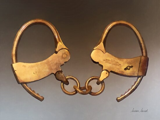 Vintage Handcuffs by Susan Savad
