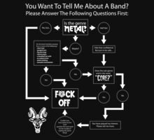 Band Interest Flowchart For The Metalhead by BabyJesus