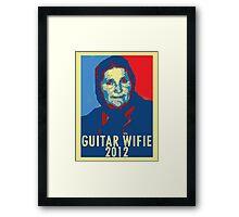 Guitar Wifie for President 2012 Framed Print