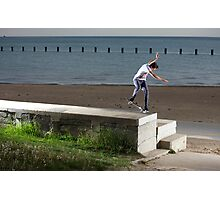 Mikey Taylor - Sw 180 Nosegrind - Photo: Sam McGuire Photographic Print