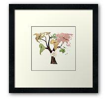 Earth Tree (Birds) Framed Print