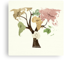 Earth Tree (Birds) Canvas Print
