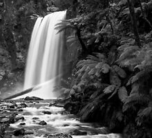 Hopetoun falls in Balck and White by Simon Penrose