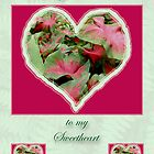 Sweetheart Merry Christmas Greeting Card - Caladium by MotherNature