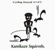 Cycling Hazards - Kamikaze Squirrels T-Shirt