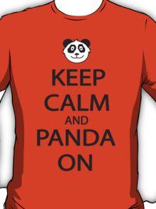 Keep Calm and Panda On Baseball Shirt T-Shirt