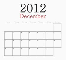 December 2012 Calendar - End of the World by lindsaypaul