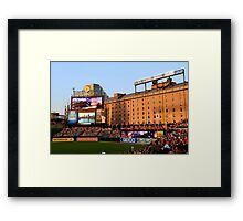 Inside Camden Yards Framed Print