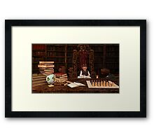 The Bookworm Framed Print