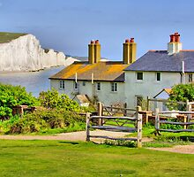 Coastguard Cottages - The Seven Sisters by Colin  Williams Photography