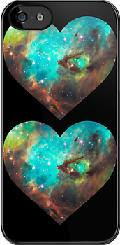 Green Galaxy Heart by rapplatt