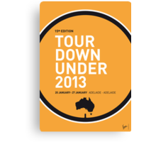 MY TOUR DOWN UNDER MINIMAL POSTER Canvas Print
