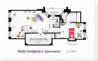 Breakfast at Tiffany's Apartment Floorplan by Iñaki Aliste Lizarralde
