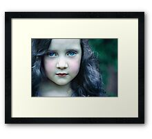 Even in my alternate universe, the rain makes my hair curl... Framed Print