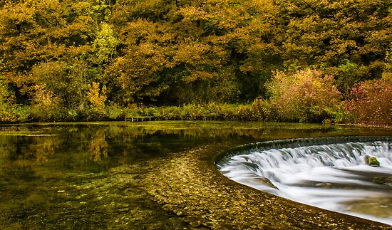 Autumn on the River Lathkill  by John Dunbar