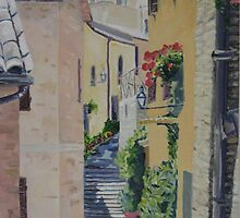 Alleyway in Montefalco, Italy by Juliane Porter