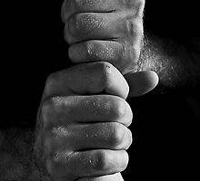 A baseball player's hands by Daniel Sorine