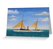 Steamship Yacht Oneida Greeting Card