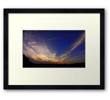 Autumn Sunset, October,High Coniscliffe, England.  Framed Print