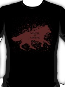 Winter is Coming (Red) T-Shirt