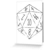 Messy D20 Greeting Card