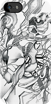 Enter the Branching Sequence - Sketch Pencil Illustration by jeffjag