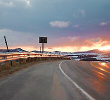 HIGHWAY 14 WYOMING by Till  Baron von Grotthuss