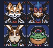 Fox, Peppy, Falco & Slippy T-Shirt
